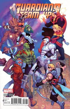 Guardians Team-Up # 1 (Variant) by Pasqual Ferry