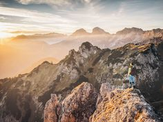 Beautiful sunset in the mountains | picture Nationalpark Gesäuse, Stefan Leitner | Admonter