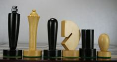 A fine decorative German style chess set.