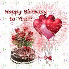 Happy Birthday Images, Happy Birthday Greetings, Birthday Wishes, Birthday Cakes, Cute Love Gif, Birthday Board, Birthdays, Bling, Animation