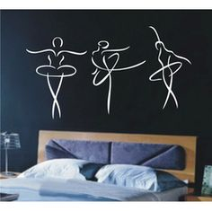 ballet girl home Decor Vinyl Wall Stickers Mural decals