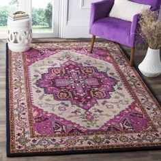 Safavieh Bellagio Handmade Bohemian Ivory/ Pink Wool Rug (5' x 8') - Free Shipping Today - Overstock.com - 20031136 - Mobile
