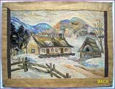 Christmas Rugs, Vintage Hooks, Latch Hook Rugs, Rug Hooking Patterns, Hand Hooked Rugs, Yellow Rug, Landscape Quilts, Braided Rugs, Lost Art