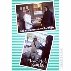 Ori' Zaba's community partner, Food Not Bombs. This organization gives back to the community by holding weekly community picnics for those who are without a permanent home.