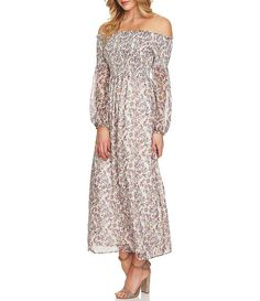 Discover the latest women's maxi dresses at Dillard's! Casual and dressy long maxi styles for all occasions. Maxi Styles, Smocking, Off The Shoulder, Floral Prints, Summer Dresses, Formal, Casual, Clothes, Bouquet