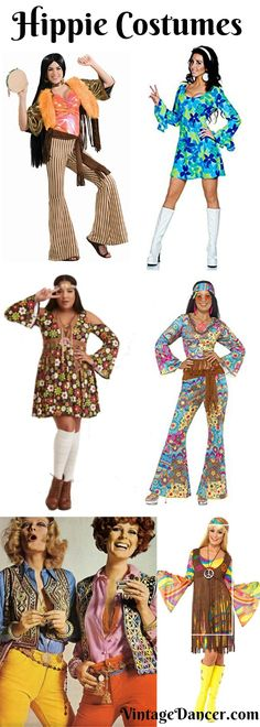 1960s Hippie Costumes, 1970s Hippie Clothing