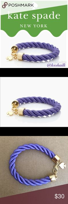 NWOT authentic KS ♠️ rope bracelet Brand new authentic Kate Spade ♠️ learn the ropes bracelet. Rare sold out everywhere. kate spade Jewelry Bracelets