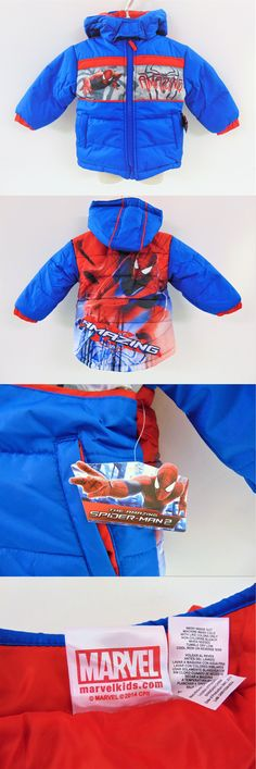 3ad59f742a84 Outerwear 147324  Spiderman Little Boy S Puffer Winter Coat - gt  BUY IT NOW