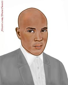 #GoodLooking #Businessman On #Focus Art piece inspired by Cadiwill on http://Fiverr.com/DrawTweets  #Caricature #Drawing