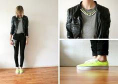dark with a touch of neon