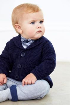 Buy Navy Shawl Collar Cardigan (0mths-2yrs) from the Next UK online shop