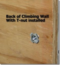 How to fasten climbing holds