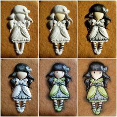 Girl in Green Dress cookie // Mézesmanna