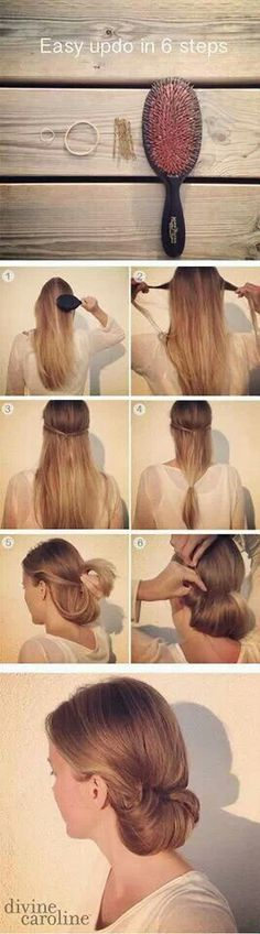 12 Trendy Low Bun Updo Hairstyles Tutorials: Easy Cute, good for work Updo Hairstyles Tutorials, Pretty Hairstyles, Easy Hairstyles, Wedding Hairstyles, Office Hairstyles, Romantic Hairstyles, Hairstyles 2018, Everyday Hairstyles, Hairdos