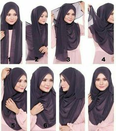 Find our latest new hijab styles 2020 step by step. Learn how to take hijab without a pin. You will be helped out in learning by making a tutorial series of taking hijab. See chest covering hijab style for girls and much more. Tutorial Hijab Pashmina, Square Hijab Tutorial, Simple Hijab Tutorial, Hijab Simple, Hijab Style Tutorial, Turkish Hijab Tutorial, Stylish Hijab, Hijab Chic, Muslim Fashion