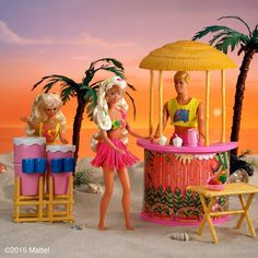 #TBT to the perfect beach day in 1990!  #barbie #barbiestyle