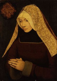 Lady Margaret Beaufort, mother of Henry VII, grandmother of Henry VIII, Margaret, and Mary Tudor. Descendent of Katherine Swynford.