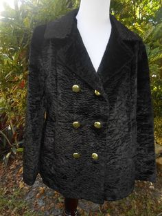 Couture EPIC LUXURY Faux Persian Lamb Swing Coat Jacket Vintage Medium large #nolabel #FAUXFURCOAT