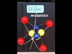 MAQUETA DEL ÁTOMO FÁCIL DE HACER.ATOM MODELO PARA FAZER FÁCIL.modelo atómico de Rutheford. - YouTube