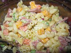 Macaroni-Ham Salad – Healthy To Fit - Macaroni Salad Macaroni Salad With Ham, Mexican Macaroni Salad, Mexican Pasta, Healthy Salads, Healthy Recipes, Yummy Recipes, Healthy Food, Yummy Food, Ham Salad Recipes