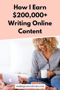 If you love to write, but haven't taken the leap to become a freelance writer, you're missing out. Writing CAN be your full time job if you are willing to put in the time and energy. Find out how you can earn $200,000 by writing online. Make Money Blogging, How To Make Money, Write Online, Writing Tips, How To Start A Blog, Content, Writing Prompts