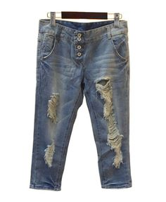 Loose Cropped Jeans