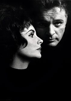 """Elizabeth Taylor and Richard Burton. She was mesmerized by him. Elizabeth: """"I love Richard Burton with every fiber of my soul but we can't be together. Golden Age Of Hollywood, Hollywood Stars, Classic Hollywood, Old Hollywood, Celebrity Couples, Celebrity Photos, Burton And Taylor, Violet Eyes, Kevin Spacey"""
