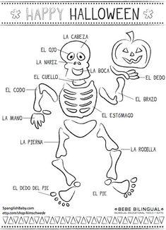 Latino Halloween: Halloween Activities In Spanish – Actividades Educativas De Halloween Preschool Spanish, Learning Spanish For Kids, Spanish Lessons For Kids, Spanish Teaching Resources, Spanish Lesson Plans, Spanish Activities, Learn Spanish, Teaching Tips, Spanish Games