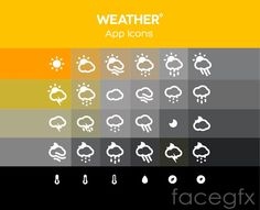 The weather icon design vector