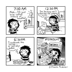 10 comics that we remember this year - Sarah See Andersen, Sarah Andersen Comics, Sarah Anderson, C Cassandra, Funny Images, Funny Pictures, Sarah's Scribbles, Mini Comic, Funny Comics