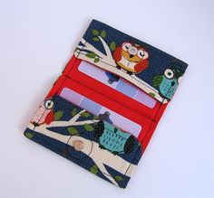 Owl Card Holder / Business Gift or Credit Card by KthysKreations, $8.50