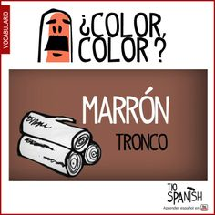 Color marrón, como los troncos. Aprender los colores en español. ** Color brown, like the trunks. Learn colors in Spanish.