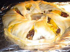 Pillsbury Crescent Roll Cheeseburger Ring