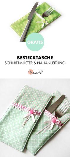 Gratis Anleitung: Bestecktasche nähen - Schnittmuster und Nähanleitung via Makerist.de