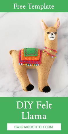 Felt Patterns Free, Animal Sewing Patterns, Free Pattern, Plushie Patterns, Easy Patterns, Sewing Stuffed Animals, Stuffed Toys Patterns, Felt Diy, Felt Crafts