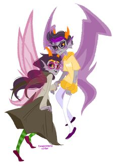 Feferi and Eridan  I feel bad for Eridan. All he wanted was some love and no one gave it to him.