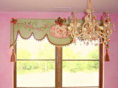 Custom Canvas Window Treatment for girls bedroom playroom.. $450.00, via Etsy.