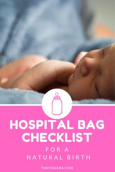 Hospital Bag Checklist for a natural birth Hospital Bag Che Hospital Bag Checklist Uk, Hospital Bag Essentials, Diaper Bag Essentials, Birth Hospital Bag, Hospital Bag For Mom To Be, Newborn Necessities, Breastfeeding And Pumping, Natural Birth, Newborn Care