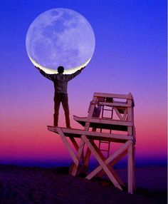 taking the moon #photographie
