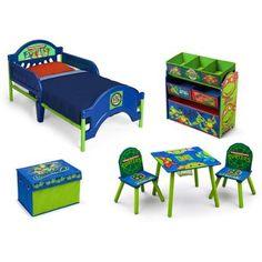 Fun Nickelodeon Ninja Turtles Room in a Box with BONUS Toy Bin