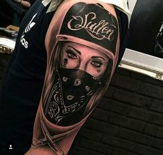 mobster girl tattoos – Tattoo Tips Girl Face Tattoo, Face Tattoos, Skull Tattoos, Tattoo Girls, Leg Tattoos, Body Art Tattoos, Girl Tattoos, Sleeve Tattoos, Tatoos