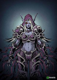 Sylvannas Windrunner by Novanim Angel Warrior, Fantasy Warrior, World Of Warcraft Characters, Fantasy Characters, Medieval Combat, Lady Sylvanas, Sylvanas Windrunner, Mundo Dos Games, Wow World