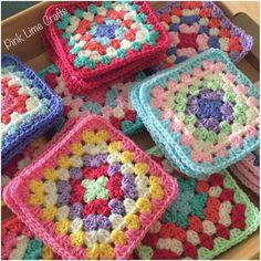 Granny squares all ready to join  #crochet #grannysquares #workinprogress #stylecraft #madetoorder #handmade #craft by pinklimecrafts