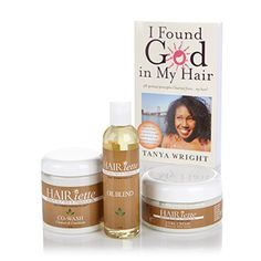 Have YOU found GOD in your HAIR?! Try to find GOD in your hair by entering Day 13 of 31 Days of Giveaways: No Tricks, Just Treats.  SPONSORED BY: Hairiette  Kokum & Marula Co-Wash Kokum & Marula Curl Creme Kokum & Marula Oil Blend I FOUND GOD IN MY HAIR book | autographed by Tanya Wright Pink wide-tooth comb 2 prizes valued at: $60