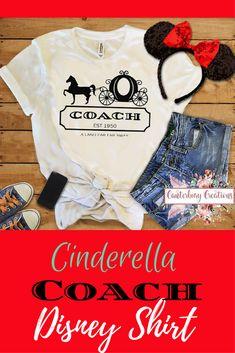Princess/Cinderella Coach Shirt | Disney vacation disney tank disney shirts coach cinderella coach disney coach family vacation #cinderella #coach #disney #affiliate