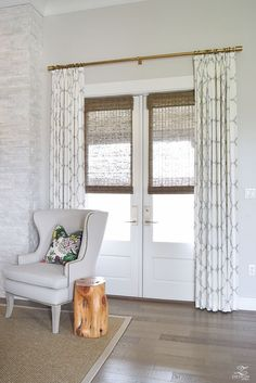 Super Farmhouse Curtains Living Room Bathroom Ideas Super Farmhouse Curtains Living Room Bathroom Ideas This image has. Curtains Living, Living Room Windows, My Living Room, Living Room Decor, Curtain Ideas For Living Room, French Door Curtains, French Doors Patio, Patio Door Curtains, Kitchen Curtains