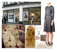"""Touring the London College of Fashion, meeting with students, and learning how to design clothes"" by duchess-rebecca ❤ liked on Polyvore featuring Alexander McQueen, Diana M. Jewels and Sergio Rossi"