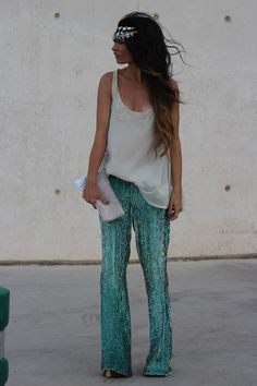Manoush Sequin Pants - I die over this whole outfit!