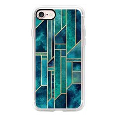 Blue Skies - Geometry - iPhone 7 Case, iPhone 7 Plus Case, iPhone 7... ($40) ❤ liked on Polyvore featuring accessories, tech accessories, iphone case, apple iphone cases, blue iphone case, iphone cases and iphone cover case