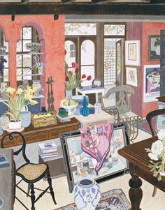 Margaret Olley interior - Cressida Campbell, 1992. Australian,b.1960- Woodblock print Private collection, Sydney.